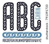 vector font  trendy typescript...   Shutterstock .eps vector #791391733
