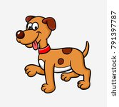 dog animal colorful vector.... | Shutterstock .eps vector #791397787