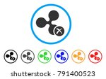 ripple reject rounded icon.... | Shutterstock .eps vector #791400523