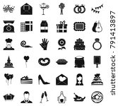 celebration cake icons set.... | Shutterstock . vector #791413897