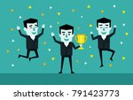 victory celebration ... | Shutterstock .eps vector #791423773
