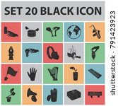 manipulation by hands black... | Shutterstock .eps vector #791423923