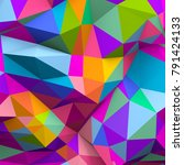 abstract colorful low poly...   Shutterstock . vector #791424133