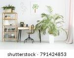 white workspace in flat... | Shutterstock . vector #791424853