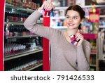 happy cheerful positive woman... | Shutterstock . vector #791426533