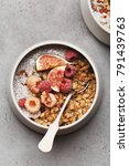 home made granola with chia... | Shutterstock . vector #791439763