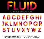colorful fluid font  for title  ... | Shutterstock .eps vector #791440867