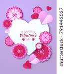 valentine's day abstract... | Shutterstock .eps vector #791443027