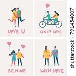 vector valentine illustration... | Shutterstock .eps vector #791454007
