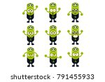 battery emoji character set | Shutterstock .eps vector #791455933