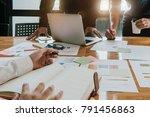 the female secretary holding... | Shutterstock . vector #791456863