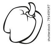 vector vegetables black and...   Shutterstock .eps vector #791459197