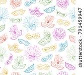venetian carnival seamless... | Shutterstock .eps vector #791459947