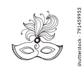 hand drawn carnival vector mask ... | Shutterstock .eps vector #791459953
