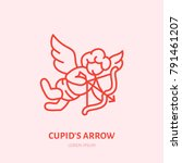 cupid with bow and arrow flat... | Shutterstock .eps vector #791461207