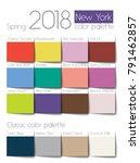 spring 2018 color palette new...   Shutterstock .eps vector #791462857