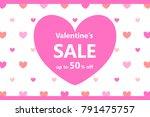 valentines day sale background...   Shutterstock .eps vector #791475757