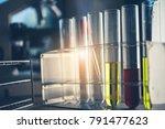 laboratory glassware containing ...   Shutterstock . vector #791477623