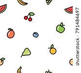 seamless background with fruits ... | Shutterstock .eps vector #791484697