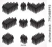 set of people icon in flat...   Shutterstock .eps vector #791488993