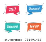 promotion banner with flat... | Shutterstock .eps vector #791491483