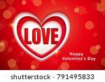 valentines day background...   Shutterstock .eps vector #791495833