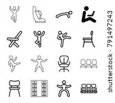 sit icons. set of 16 editable... | Shutterstock .eps vector #791497243