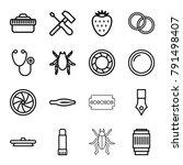 macro icons set of 16 editable
