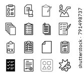 form icons. set of 16 editable... | Shutterstock .eps vector #791498737