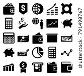economy icons. set of 25... | Shutterstock .eps vector #791498767