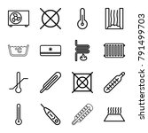 temperature icons. set of 16...   Shutterstock .eps vector #791499703