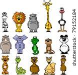 set of cartoon animals | Shutterstock .eps vector #79152184