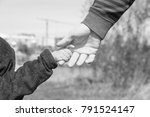 stylish hands of a parent and... | Shutterstock . vector #791524147