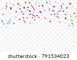 many falling colorful tiny... | Shutterstock .eps vector #791534023