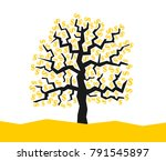 money is growing on the tree  ... | Shutterstock .eps vector #791545897