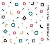memphis pattern of geometric... | Shutterstock .eps vector #791547637