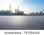 empty asphalt road front of... | Shutterstock . vector #791554243