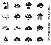 solid black vector icon set  ... | Shutterstock .eps vector #791569837