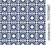 ornate tile pattern with modern ... | Shutterstock . vector #791570887