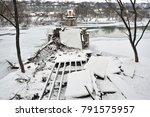 Old Metallic Bridge Over The...