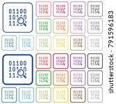 code analysis color flat icons... | Shutterstock .eps vector #791596183