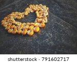 A Heart Shape Made By The Corn...