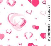 heart pattern for the valentine'... | Shutterstock .eps vector #791616727