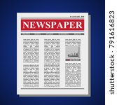 mock up of a blank newspaper or ... | Shutterstock .eps vector #791616823