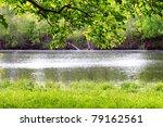 Spring Landscape. River Bank...