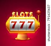 slots 777 casino jackpot ... | Shutterstock .eps vector #791625637