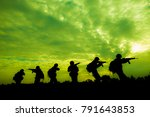 reconnaissance soldiers on duty ... | Shutterstock . vector #791643853