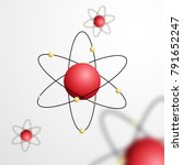 abstract atom with core and... | Shutterstock .eps vector #791652247