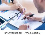 team are working together... | Shutterstock . vector #791663557