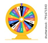 realistic spinning fortune... | Shutterstock .eps vector #791671543